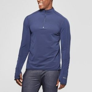 Mens Warm Running Quarter Zip